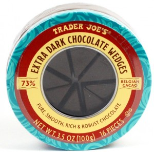 trader joe's extra dark chocolate wedges