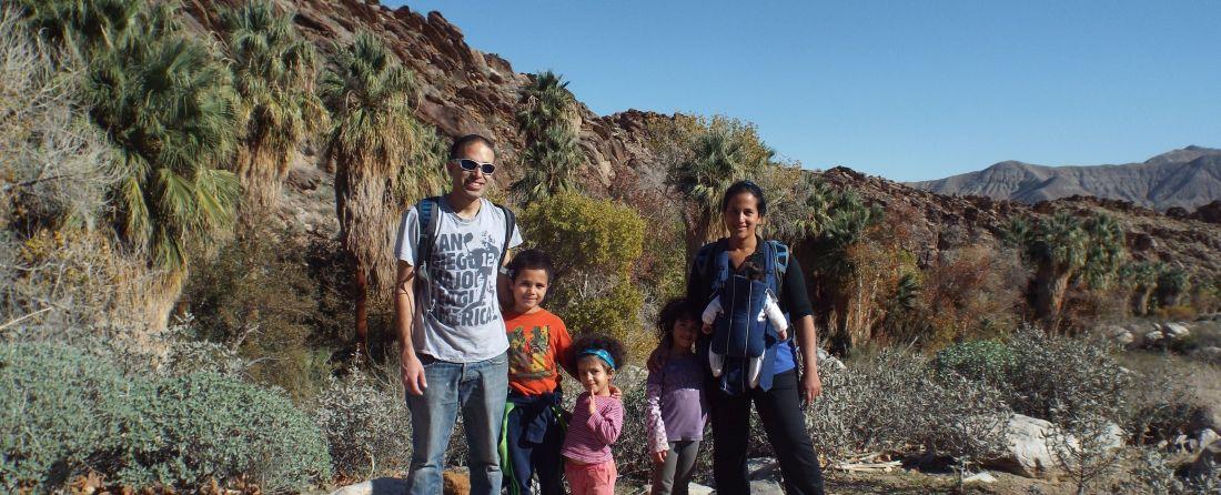 מסלול הטיול של משפחת נועם לפאלם ספרינגס