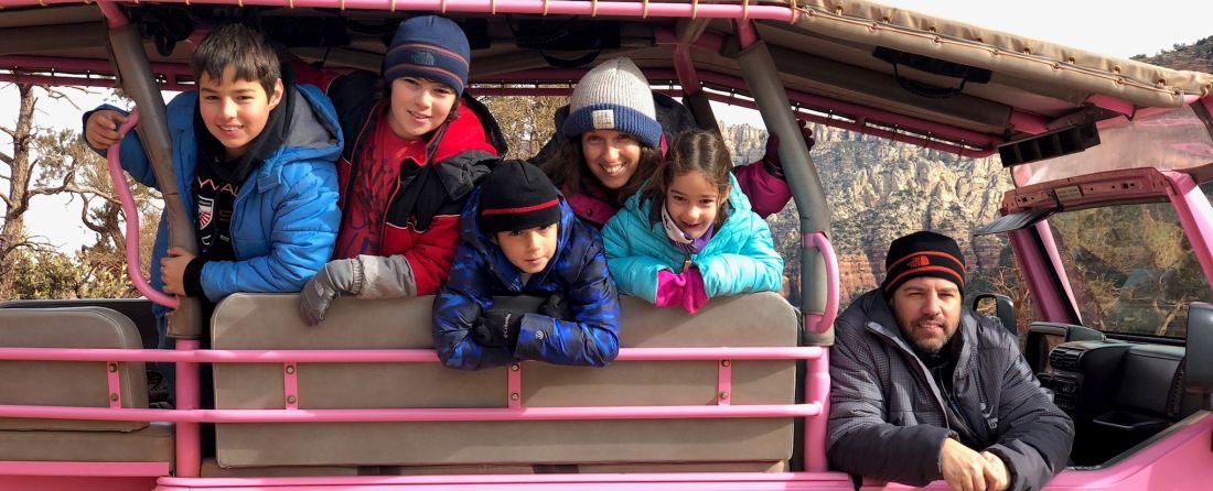 מסלול הטיול של משפחת שחם בסדונה, אריזונה