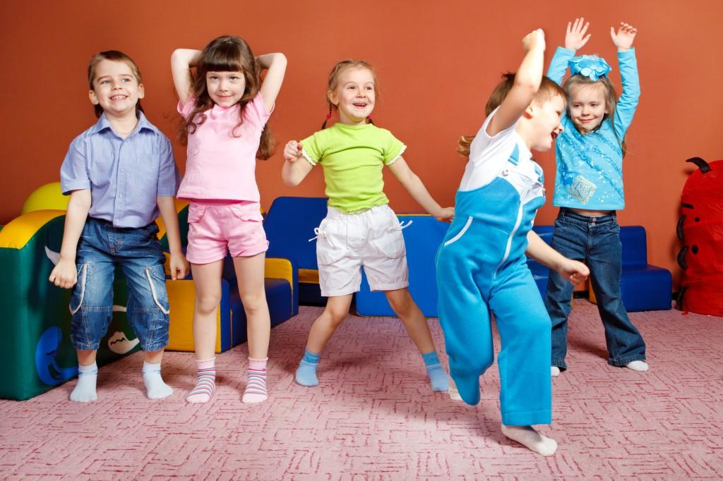 A group of preschool kids