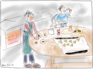 Purim-baking