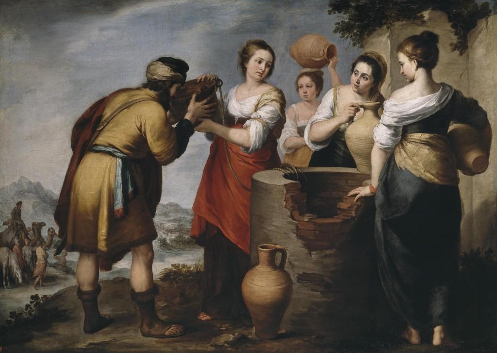Rebecca and Eliezer by Bartolomé Esteban Murillo, 17th century.